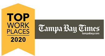 Image of an Award presented to The Oaks of Clearwater by the Tampa Bay Times for being a 2020 Top Workplace